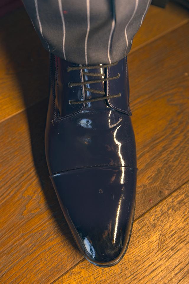נעל אלגנט צבע כחול מבריק, תמונה 2