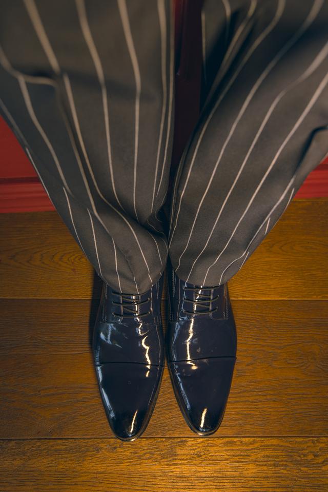 נעל אלגנט צבע כחול מבריק, תמונה 1