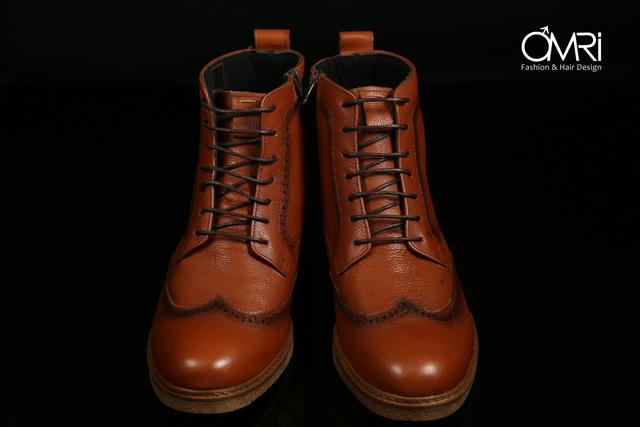 נעלי מגף בצבע חום, תמונה 3