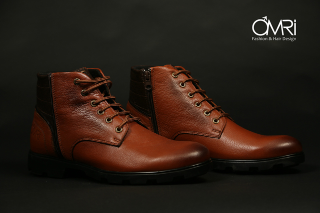 נעלי מגף בצבע חום, תמונה 2