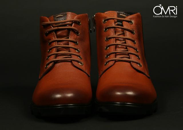 נעלי מגף בצבע חום, תמונה 5