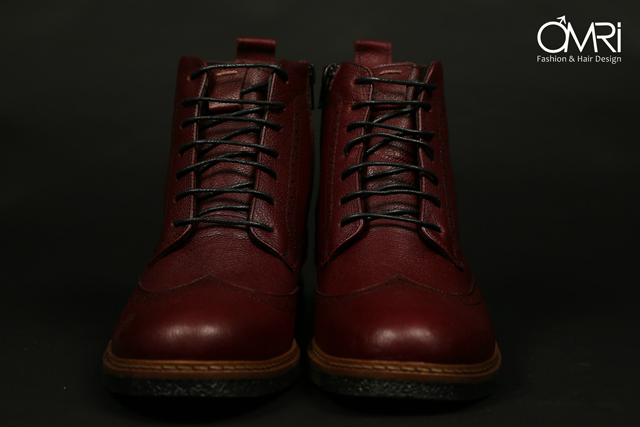 נעלי מגף בצבע חום, תמונה 6