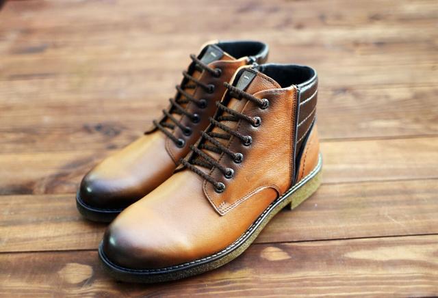 נעל מגף מעור אמיתי במקוון צבעים, תמונה 4