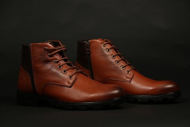 נעל מגף מעור אמיתי במקוון צבעים, תמונה 5