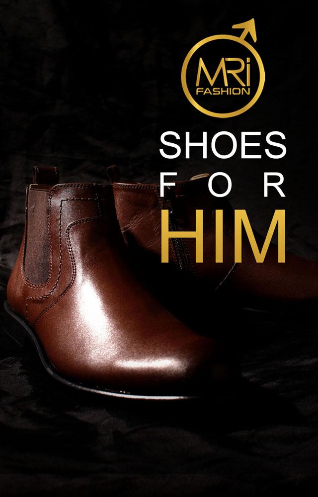 נעלי מגף בצבע חום