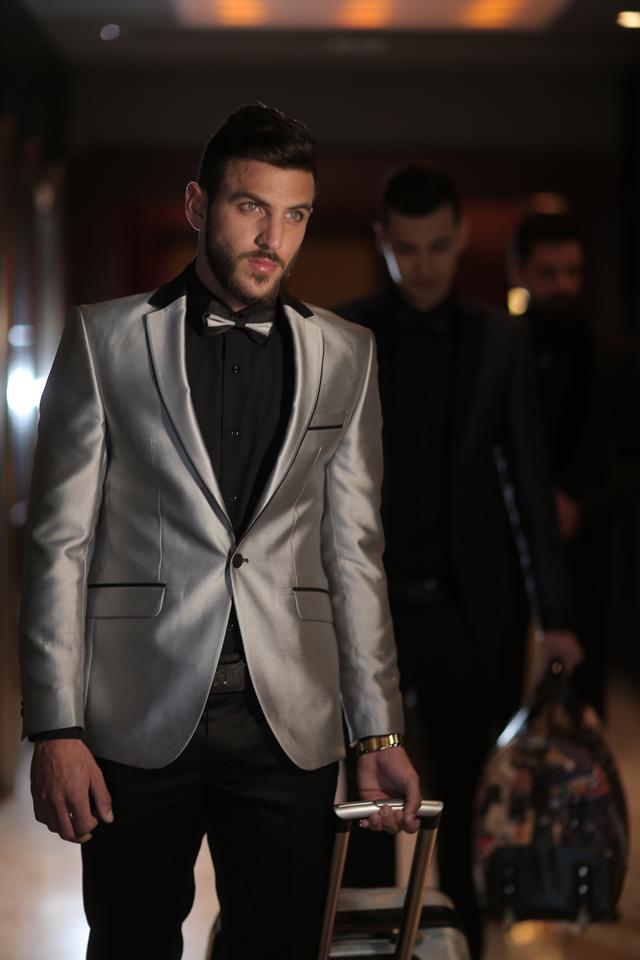 חליפת חתן צבע אפור מבריק, תמונה 1
