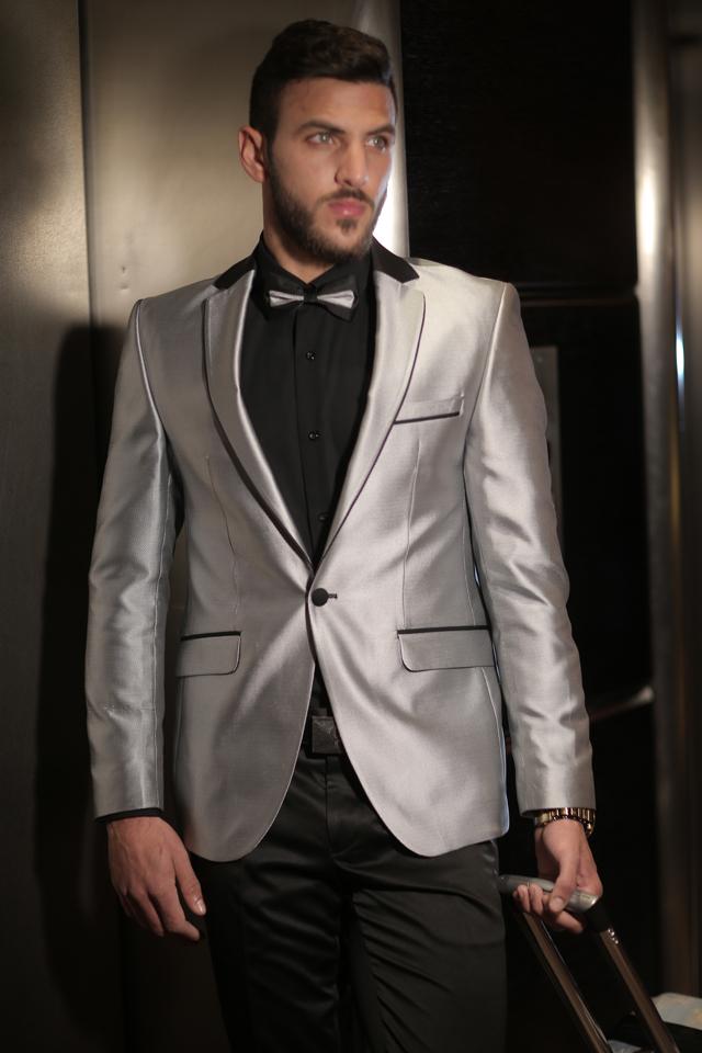 חליפת חתן צבע אפור מבריק