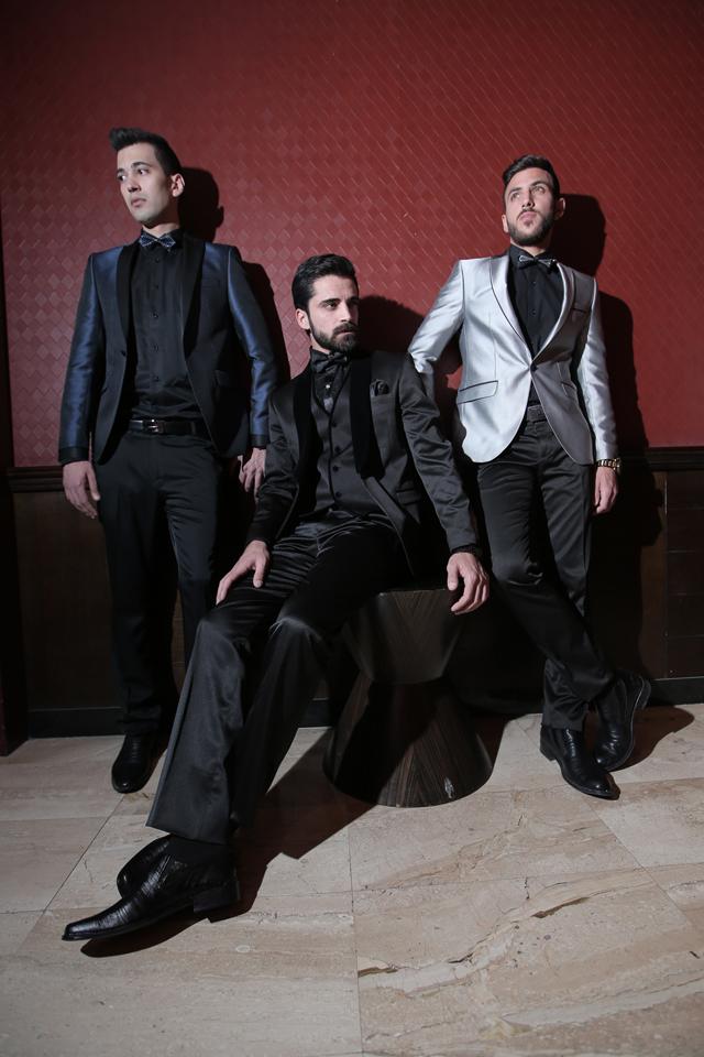 חליפת חתן צבע כחול מבריק שילוב שחור, תמונה 5