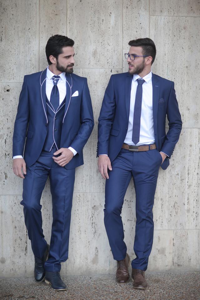 חליפת חתן קלאסית בצבע כחול פטרול, תמונה 5
