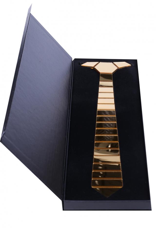 עניבה קרמי צבע זהב, תמונה 1