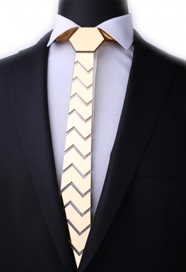 עניבה מיוחדת לחתן צבע כסף, תמונה 3