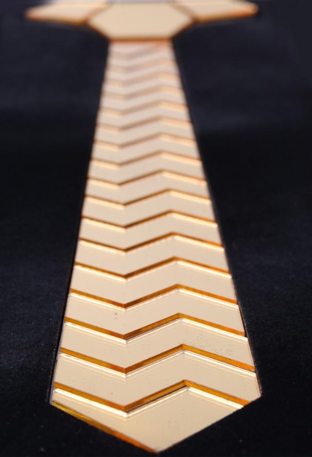 עניבה מיוחדת לחתן צבע כסף, תמונה 5