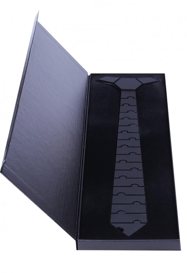 עניבה קרמי צבע כסף מבריק, תמונה 4