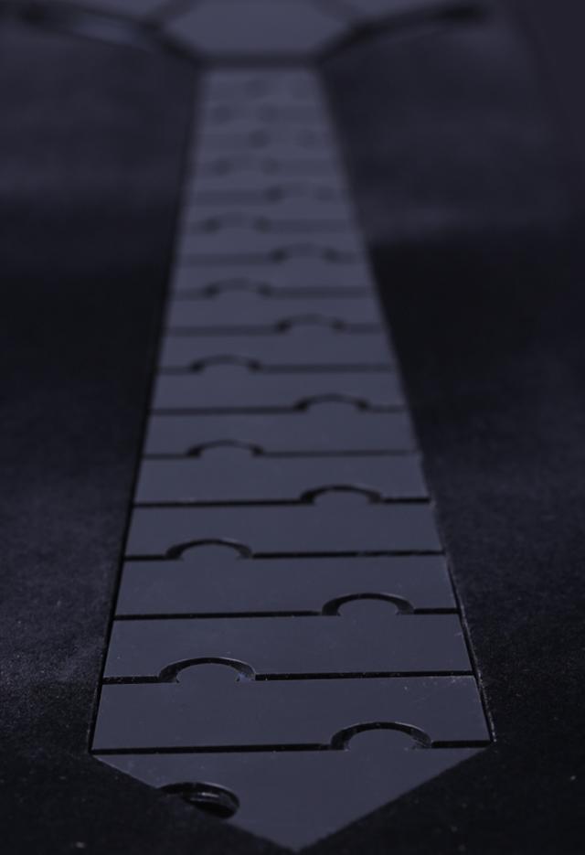 עניבה קרמי צבע כסף מבריק, תמונה 5